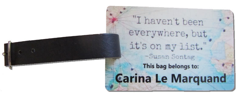 Personalised Luggage Tags Clubcards121